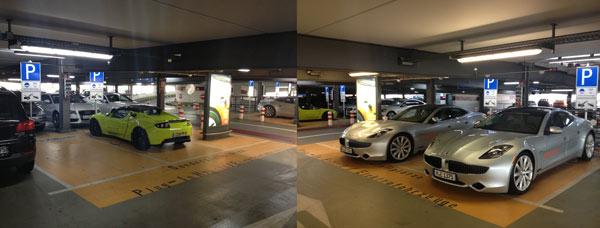 E-Car Parkplätze Flughafen München