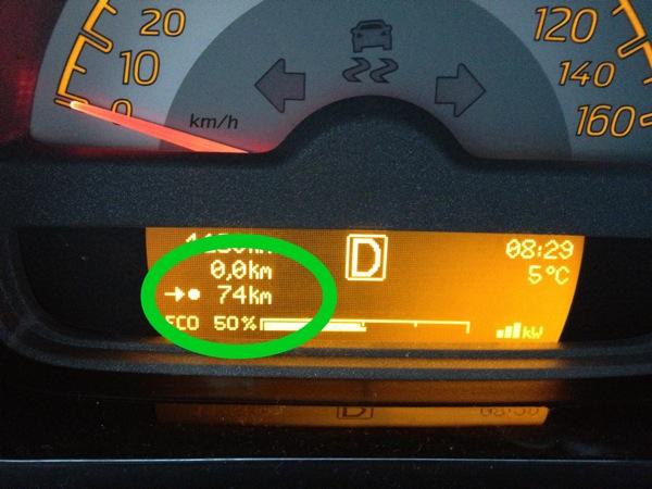 Nur 74 km