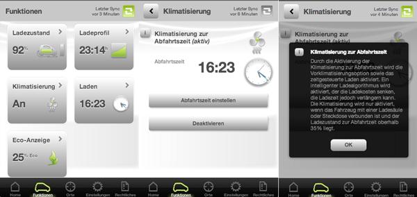 Vorklimatisierung in der smart ed App